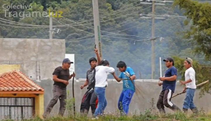 Desalojan campamento de maestros en Chiapas