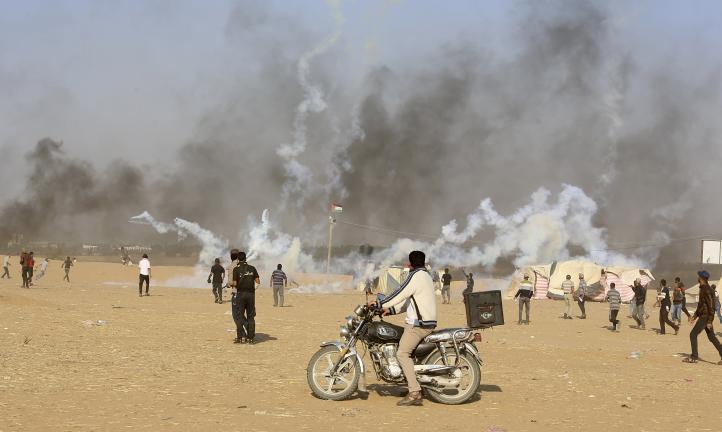 Fuerzas israelíes matan a 2 palestinos en choques