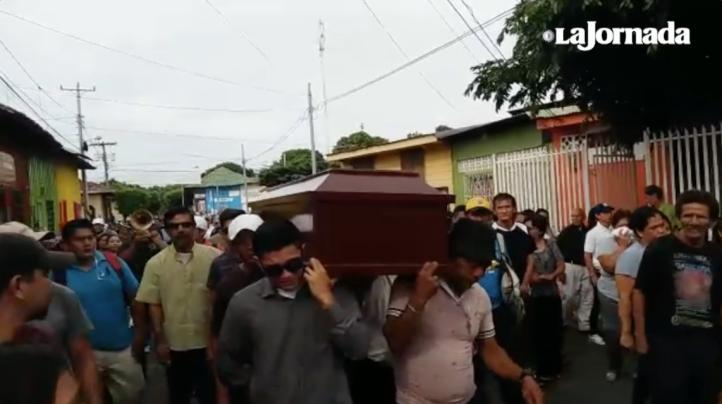 Funerales de asesinados en Masaya, Nicaragua