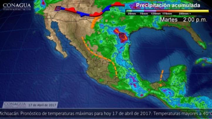 Pronóstico del tiempo para el 17 de abril