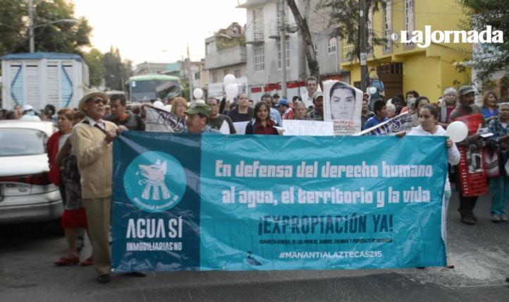 Habitantes de Los Pedregales marchan contra desarrollo inmobiliario