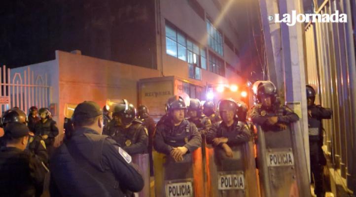 Incendio en el diario Reforma