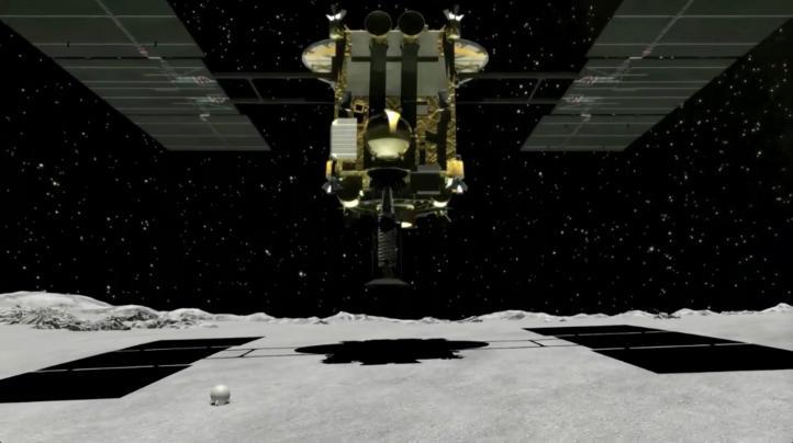 Sonda Hayabusa 2 crea cráter artificial en asteroide Ryugu