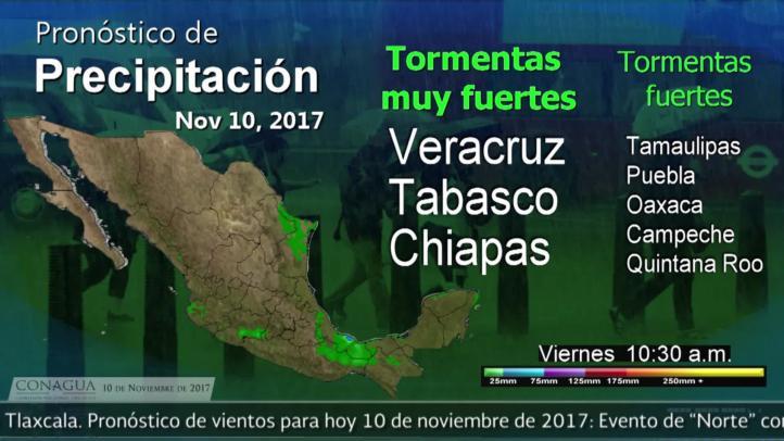 Pronóstico del tiempo para el 1ode noviembre de 2017