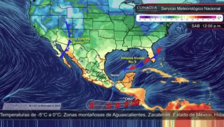 Pronóstico del tiempo para el 26 y 27 de noviembre