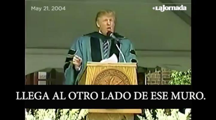 Cruza el muro, aconsejaba Trump en 2004