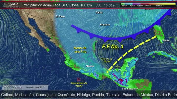 Pronóstico del Tiempo para el 1 de octubre