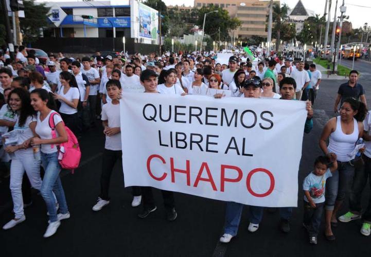 Marchan por la liberación de 'El Chapo' en Culiacán