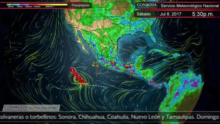 Pronóstico del tiempo para el 8 y 9 de julio