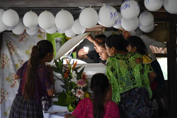 Guatemala: Velan a niña migrante fallecida en EU