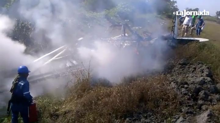 Se desploma avioneta fumigadora en Chiapas; el piloto está grave