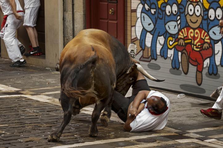 Siete heridos en segundo encierro de San Fermín
