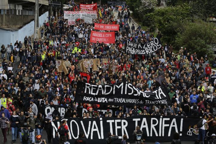 Protesta contra el Mundial en Sao Paulo