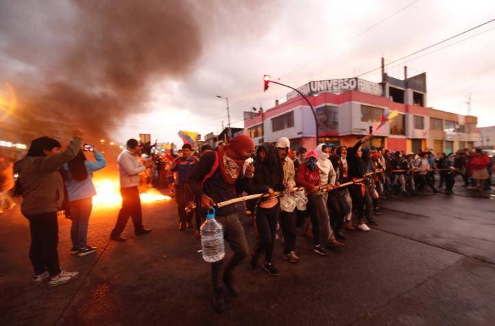 Llega el movimiento indígena a Quito