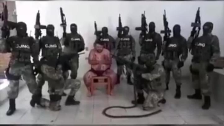 """Cártel de Jalisco difunde video de interrogatorio a Antonio Cervantes Hernández, """"El Tony""""."""