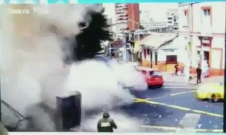 Tres policías en cuidados intensivos tras atentado en Bogotá