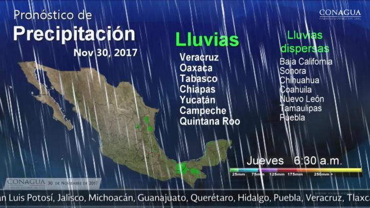 Pronóstico del tiempo para el 30 de noviembre