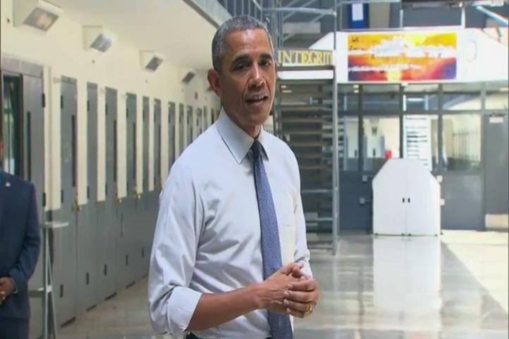 Obama es el primer presidente de Estados Unidos que visita una prisión