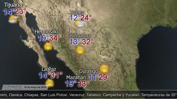 Pronóstico del tiempo para el 17 de mayo