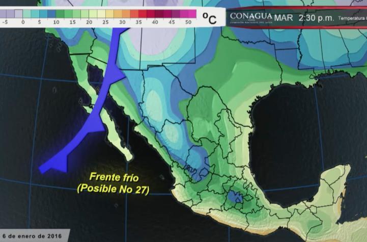 Se mantiene el descenso de la temperatura en el norte del país