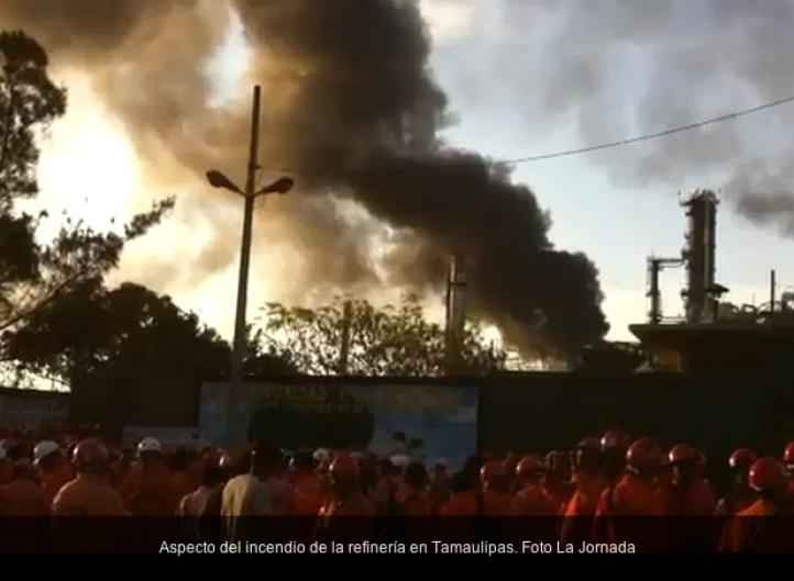 Incendio en refinería Francisco I. Madero, en Tamaulipas