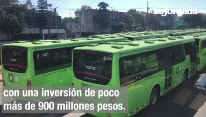 RTP pone en operación 76 nuevas unidades en Ciudad de México