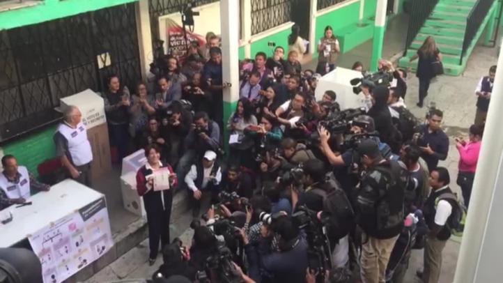 Votación de la candidata de Morena
