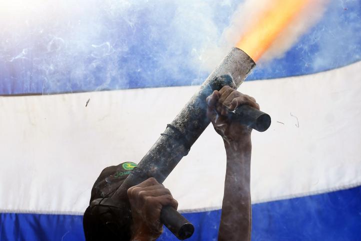 Ciudadanos resisten ofensiva policial en Masaya, Nicaragua