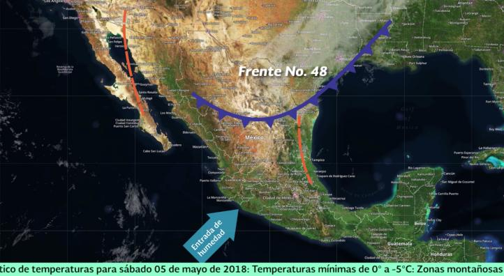 Pronóstico del tiempo para el 5 y 6 de mayo