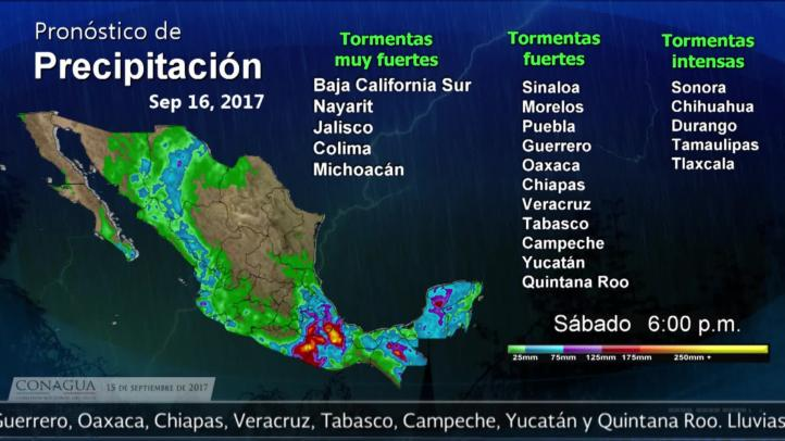 Pronóstico del tiempo para el 15 de septiembre de 2017