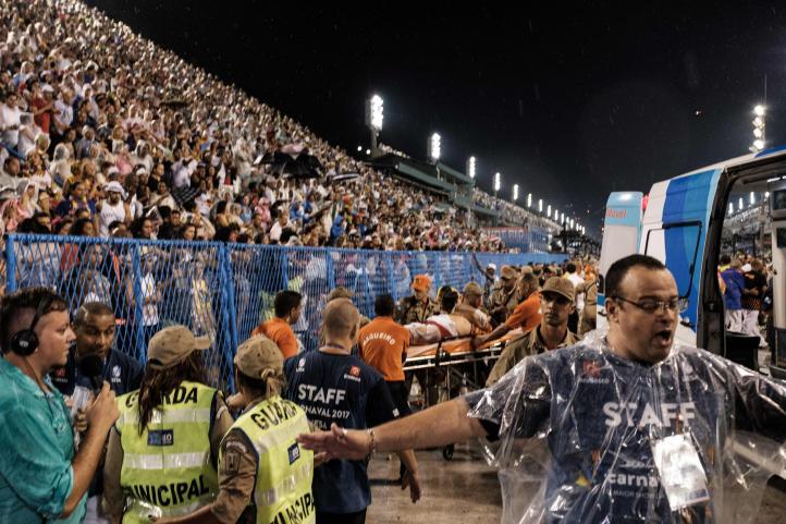 Accidente en el Carnaval de Río de Janeiro