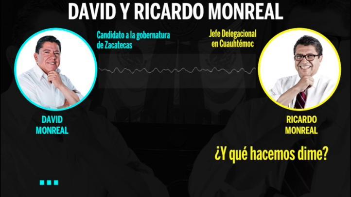 Revela audio regaño de Ricardo Monreal a su hermano David