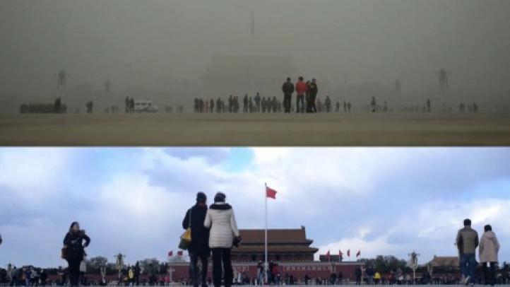 Al fin, cielo azul en Pekín