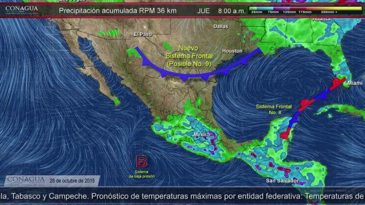 Pronóstico del Tiempo para el 28 de octubre de 2015