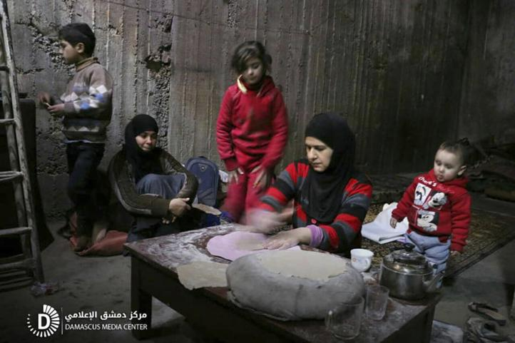 Así se protegen los sirios en Ghouta de los bombardeos diarios