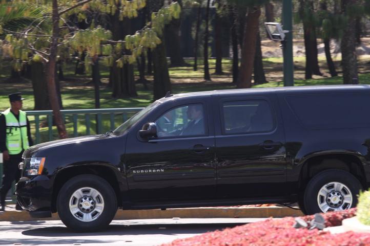 Gran despliegue de seguridad durante la visita de Tillerson y Kelly