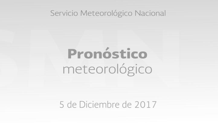 Pronóstico del tiempo para el 5 de diciembre