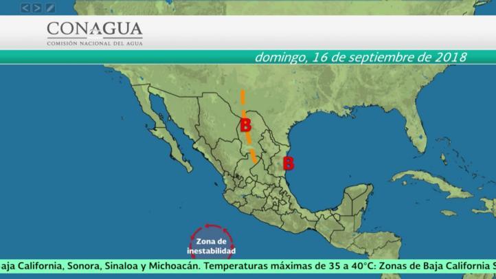 Pronóstico del tiempo para el 15 y 16 de septiembre