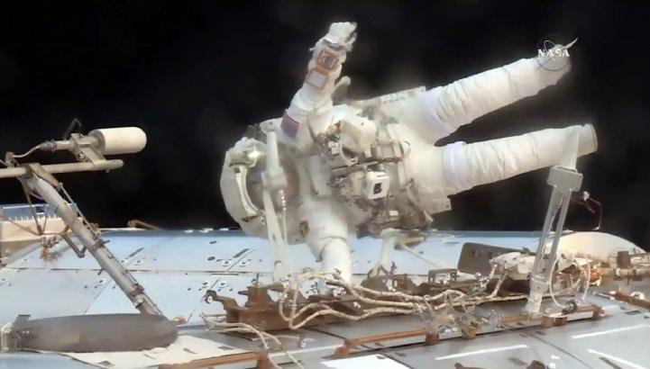 Realizan reparación urgente a la Estación Espacial Internacional