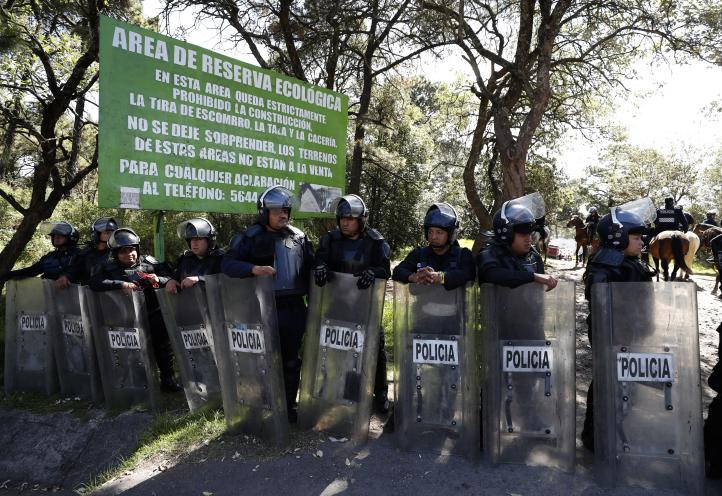 Desalojan asentamiento irregular en el Ajusco