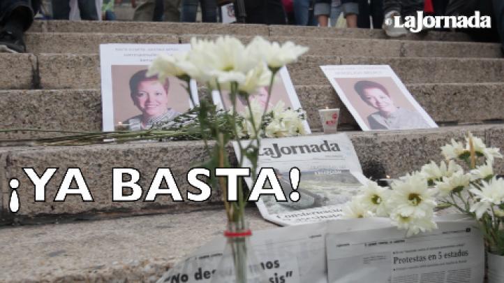 """""""¡Ya basta!"""", claman los periodistas, ante los asesinatos de sus colegas"""