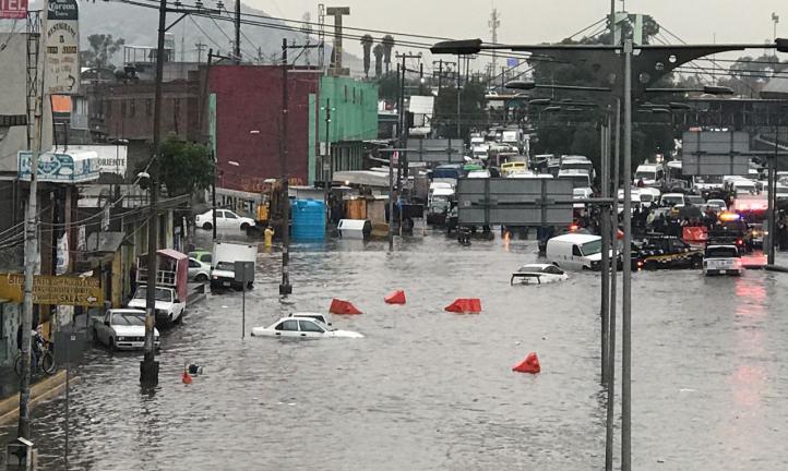 Lluvias colapsan oriente de la CDMX