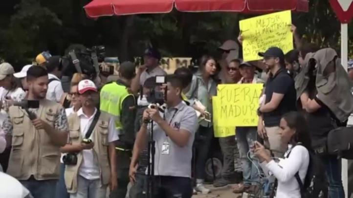 Almacenan ayuda de EU en la frontera de Colombia con Venezuela