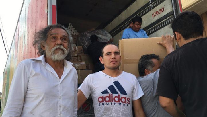 Toledo recibe donaciones de varias ciudades, para los afectados por los sismos