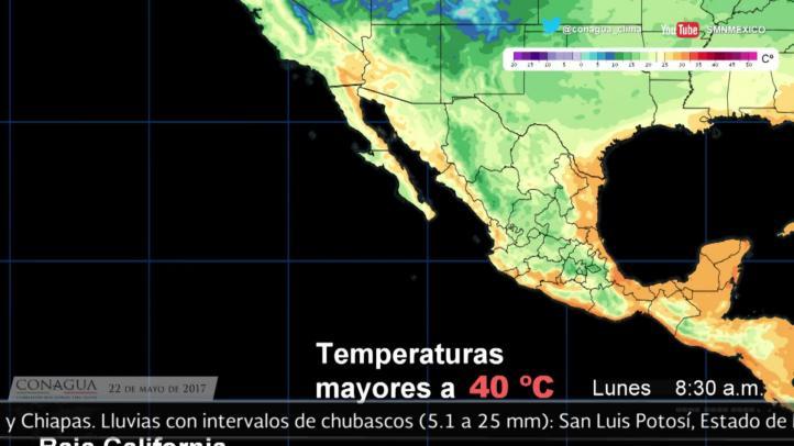 Pronóstico del tiempo para el 22 de mayo
