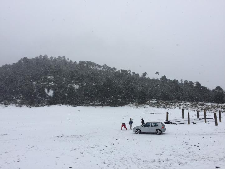Nieve en el Ajusco