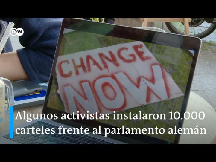 Protestas climáticas se adaptan en época de confinamiento