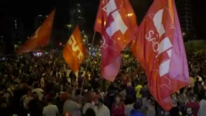 Multitudinaria manifestación contra el presidente brasileño Michel Temer