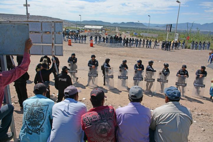 Ejidatarios mantienen 'toma' de mina de oro en Zacatecas