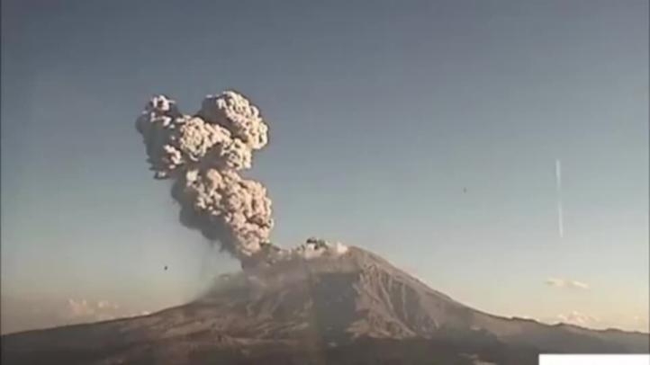 Se registra nueva explosión del Popocatépetl